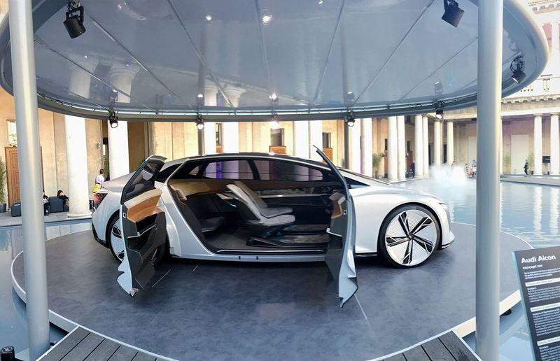 Audi 'Back to the Future' Futuristic Wheels Futuristic Car Futuristic Beautiful Car Car Of The Future Concept Car Audi Aicon Concept Car Audi Aicon Dreaming Future Car Of My Dreams😋 Wonderful Future Car Car Future Car Audi
