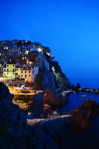 Cinque Terre Travel Destinations Night Live City Old Town History Outdoors Sea And Sky Marina Fishing Village Colorful Ligths In The City Ligth And Water City Old Ruin Architecture Travel Destinations History Landscape Sky Cityscape No People Outdoors Night First Eyeem Photo