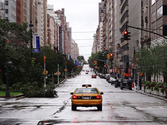 After hurricane Irene - 2011/08 Yellow Cab Manhattan NYC After Hurricane Irene Hurricane Street City Car Architecture City Street City Life Yellow Taxi