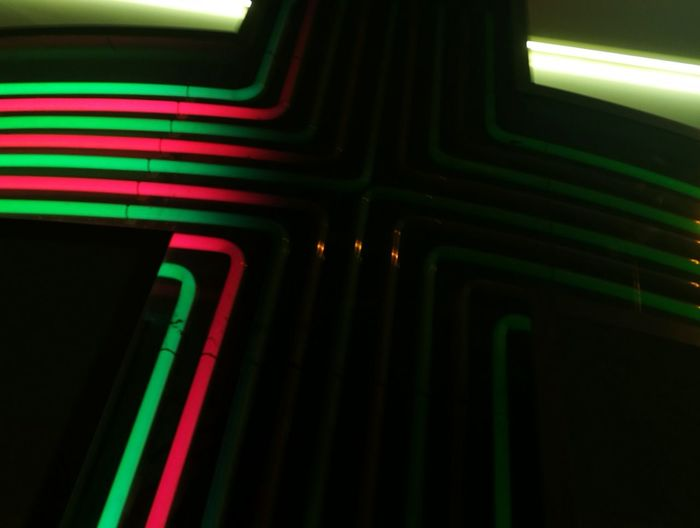 Close-up of illuminated lights