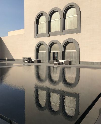 Reflection Reflection Window Building Exterior Built Structure Architecture Water Outdoors No People Residential Building Day Sky Nature