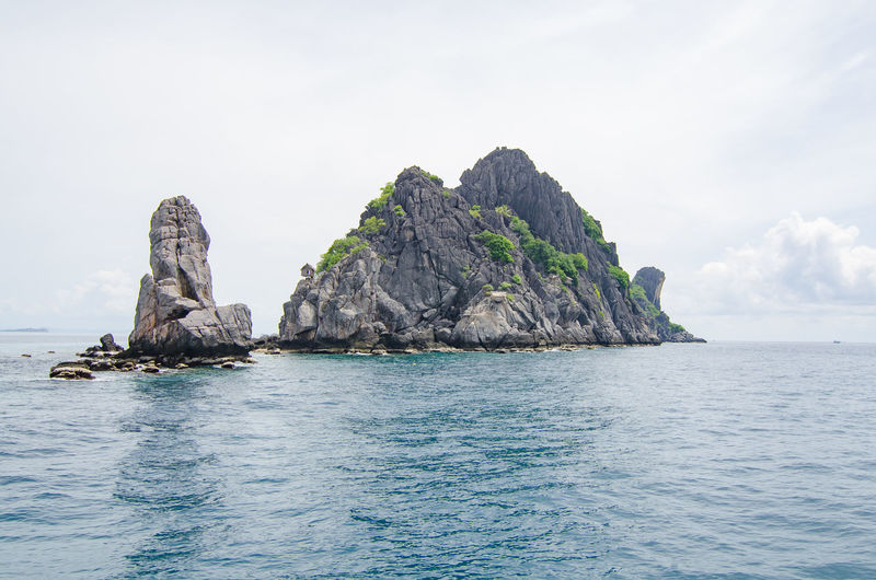 Sea Water Rock Sky Beauty In Nature Waterfront Solid Rock - Object Scenics - Nature Tranquility Nature Rock Formation Tranquil Scene Day No People Horizon Idyllic Outdoors Blue Horizon Over Water Stack Rock Turquoise Colored Eroded Rocky Coastline
