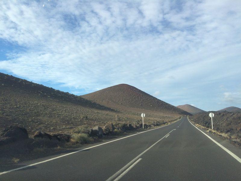 Lanzarote-Canarias Landscape Roadtonowhere Free