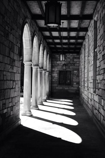 Arcades of old building