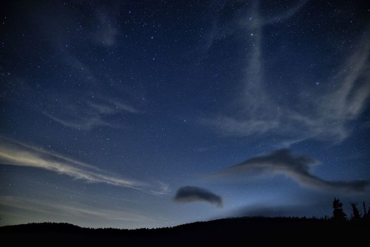 Low angle view of sky at night