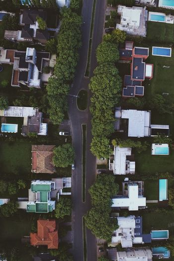 High Angle View Building Exterior Built Structure Architecture City Outdoors No People Aerial View Day House Cityscape Roof Tree Flying High