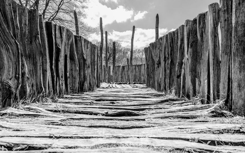 Cultic Site in Albersdorf Lostplaces Surrealism Surreal Nikon D7100 Nikonphotography Nikon Steinzeitpark Dithmarschen Steinzeitpark Albersdorf Kultstätte Black And White Blackandwhite The Way Forward Day Outdoors No People Sky Nature Architecture