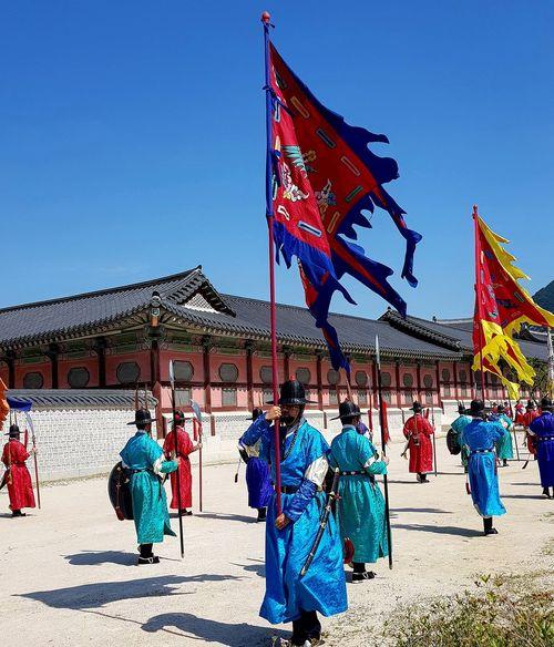 Palace Guards Practise Session Korean Culture Gyeongbokgung Palace, Seoul Tripwithson2017 Trip To Seoul Seoulspring2017 Seoulmay2017 Seoul Southkorea
