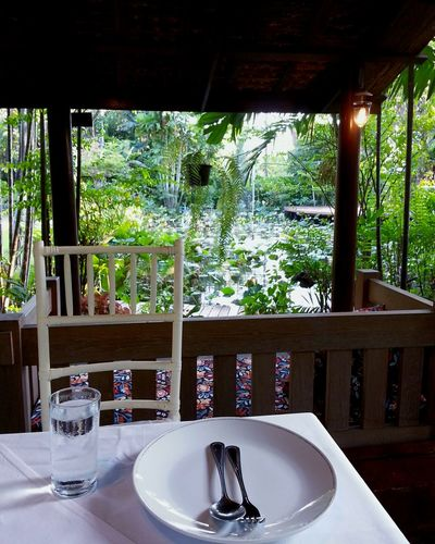 Dinner Dinner Time Garden Restuarant Chill Chilling Trees And Nature Dinner With Family Bangkok Thailand Meal Mealtimes Dinner Table Dinnertime