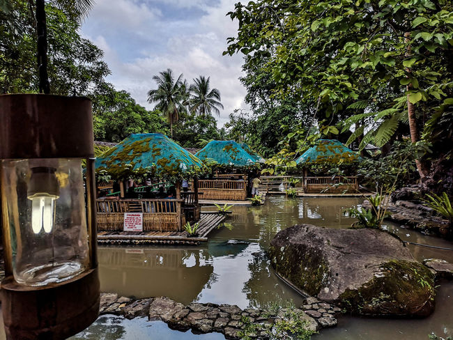 Kamayan sa Palaisdaan Floating Restaurant Tree Water Swimming Pool Flood Reflection Architecture Sky