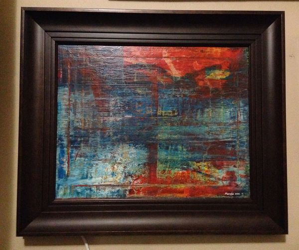 I found a cool frame for this painting I made Art Beautiful Taking Photos Abstract