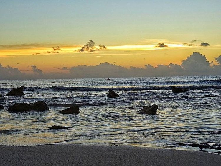 * Sunrise on the Beach Riviera Maya, 6.57 am * Sunrise Sunrises Dawn Cancunlove Cancuncolors Mexico_tour Mexicocolors HechoenMéxico Sun Beach Seaside Ig_sunrise Ig_sunrisesunset Ig_ocean Igersmexico Igerssunshinecoast Vivamexico Naturelovers Sunriselovers All_nature Allcolors Clouds Stone Playadelcarmen Barcelomaya Barcelo trave viaje travelers