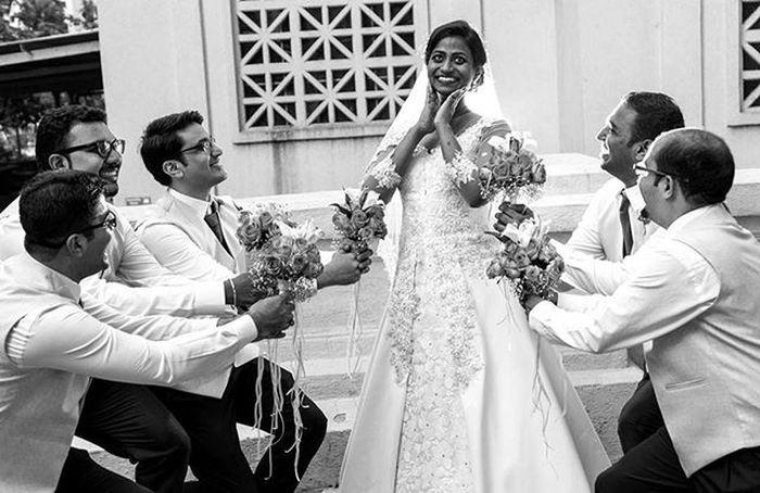 Jbclickz Wedding Catholicwedding Bride Alltheeyesonher Blackandwhite Weddingphotographer Groomsmen