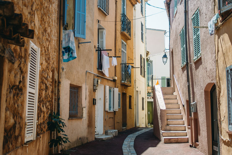 Cannes Côte D'Azur France Provence Stairs Alley Architecture Building Building Exterior Built Structure Footpath House Narrow Outdoors Town Village