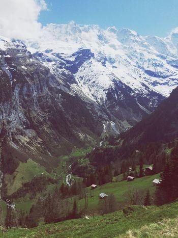swiss mountains.