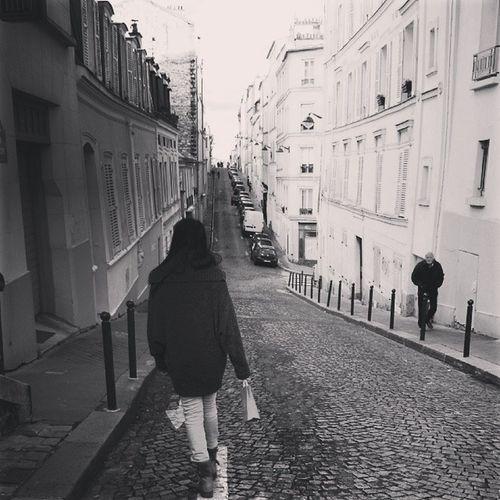 Bw Street Walking