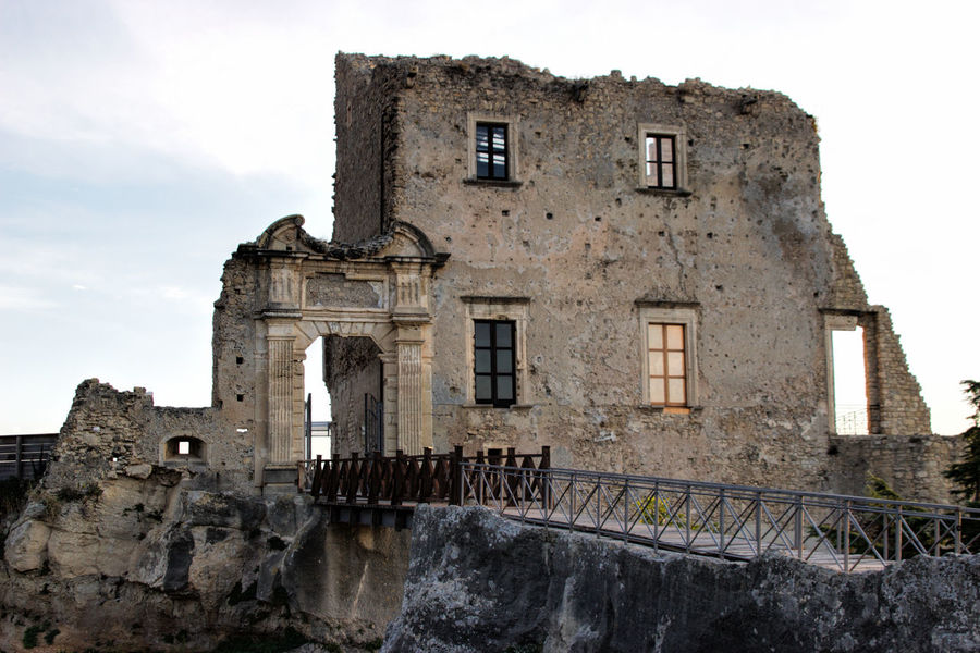 Castello Della Valle Architecture Building Exterior Built Structure Day History Low Angle View No People Old Ruin Outdoors Sky Window
