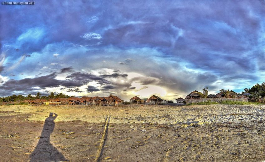 a panoramic view i took way back home