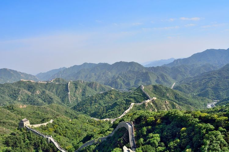 High angle view of mountain landscape