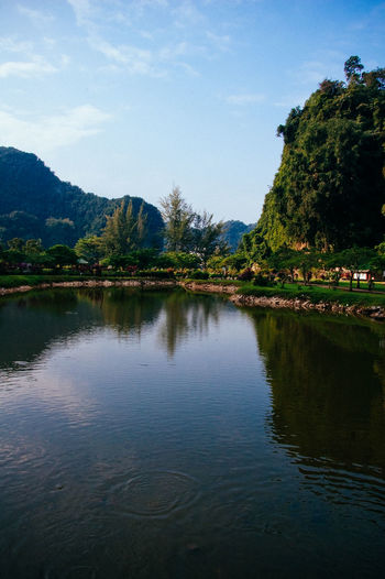 Beauty In Nature Day Ipoh Lake Landscape Limestone Hill Malaysia Mountain Mountain Range Nature No People Outdoors Reflection Scenics Sky Tranquil Scene Tranquility Tree Water Waterfront