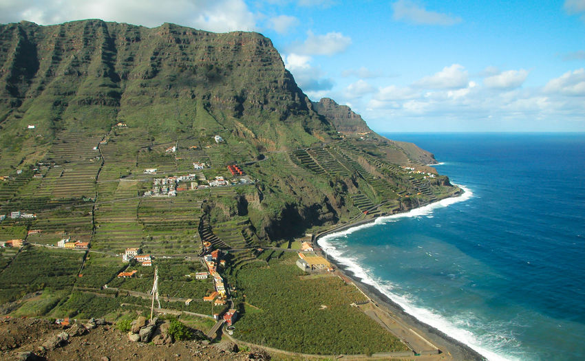 Beauty In Nature Canarian Islands Canarias Canarie Canary Cloud - Sky Day Garajonay National Park Green Mountains Horizon Over Water La Gomera Landscape Mariofender Mountain Nature No People Ocean Outdoors Scenics Sea Sky Tranquil Scene Tranquility Water Wawe The Secret Spaces