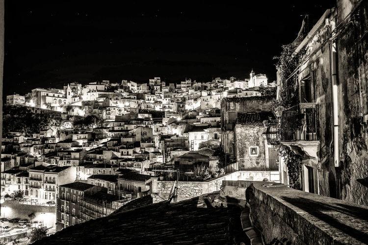 Ragusa Ibla di sera Architecture Black And White Built Structure Ibla Night Night Lights Old Town Ragusa Ibla Scorcio