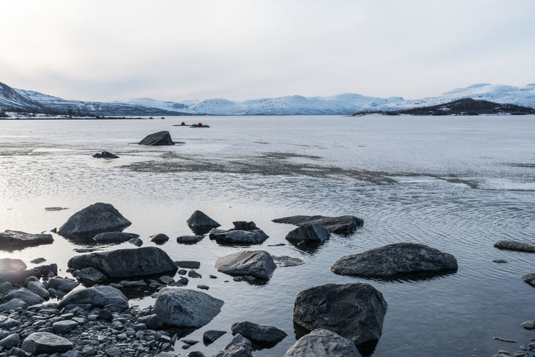 Abisko Shore 5 Abisko Beauty In Nature Cold Temperature Day Iceberg Lake Mountain Nature No People Outdoors Pebble Beach Scenics Sky Snow Sweden Tranquil Scene Tranquility Water Winter