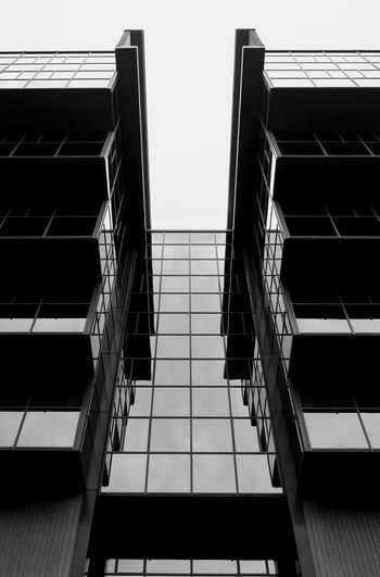 Architecture Low Angle View Built Structure Building Exterior Building City Tall Day Sky Office Building Outdoors Tall - High No People Urban Geometry Urbex Monochrome Photography