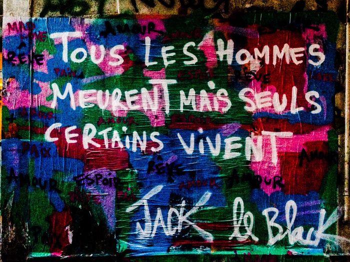 Paris Streetart Streetart/graffiti ParisStreetArt UrbanART Streetart Jackleblack Graffiti Paris ❤ Graffiti Art Spraying Words Of Wisdom...