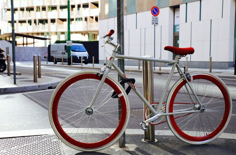 bike in Milan:) Bicycle Bikeporn Cycling Milano Mode Of Transport Nuda  Pedals Ride Ride Or Die Simplepleasures Twowheelsmovethesoul Urbanbike