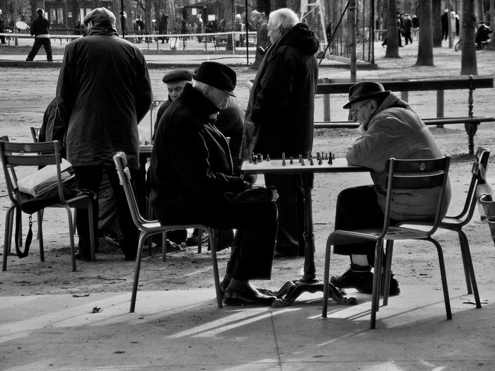 Casual Clothing Chess City City Life Jardin Luxembourg Leisure Activity Lifestyles Men Outdoors Paris Sitting