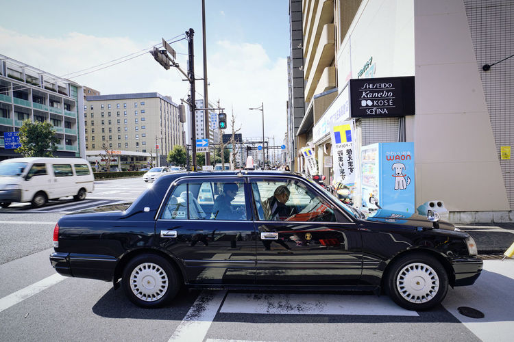 Black Taxi City City Life City Street Japan Japanese Taxi Land Vehicle Mode Of Transport Outdoors Taxi Taxi Driver