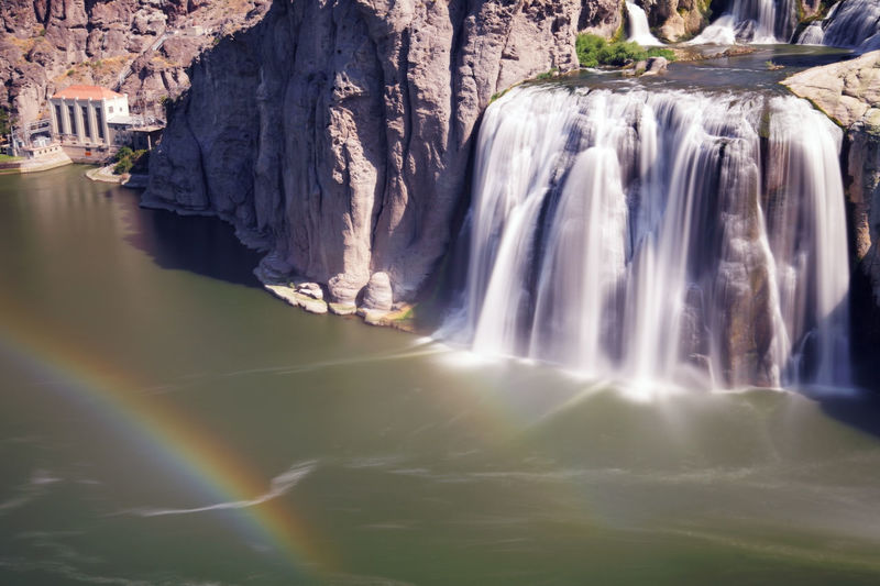 Shoshone Falls is one of the largest natural waterfalls in the United States and a natural attraction in Twin Falls .(Idaho) Shoshone Falls, Idaho Snake River Beauty In Nature Environment Falling Water Flowing Flowing Water Idaho Long Exposure Motion Nature No People Outdoors Power In Nature Rainbow Rock Rock - Object Rock Formation Scenics - Nature Shoshone Falls Solid Twin Falls Twin Falls, Idaho Water Waterfall