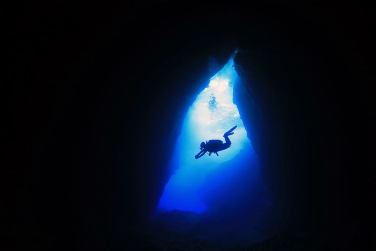 Beauty In Nature Blue Cave Extreme Sports Nature Outdoors Scuba Diving Sea Underwater Underwater Photography Water