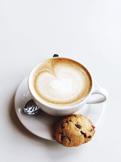 EyeEm Selects Coffee Cup Cappuccino Coffee Latte Art Break Cookies