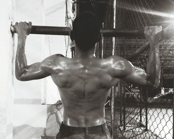 Rear View Human Body Part People Only Men One Man Only Si Racha Adults Only Fit&firm Body & Fitness Fitbody Shirtless Strong One Person Arm Masseles Men Close-up