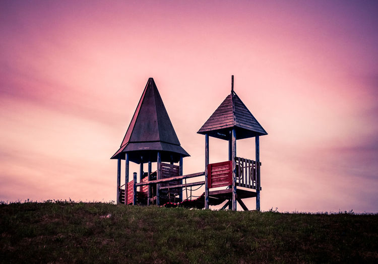 Beauty In Nature Day Mistery Nature No People Outdoors Playground Sky Sunset