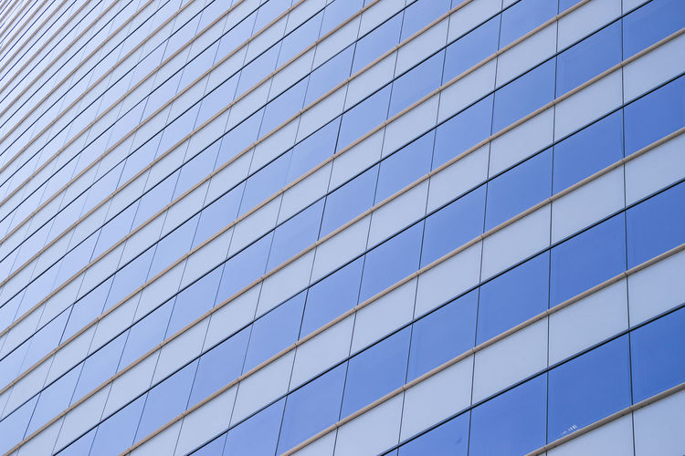 Architecture Built Structure Low Angle View Building Exterior Pattern Office Building Exterior Full Frame Sky No People Glass - Material Building Blue Office City Day Modern Backgrounds Reflection Clear Sky Nature Skyscraper