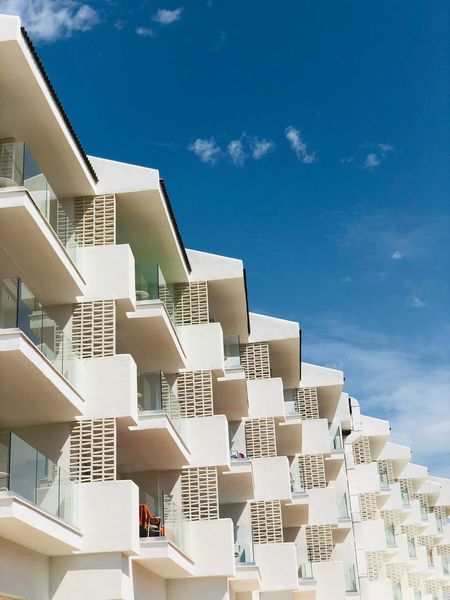 Mallorca Hotel Built Structure Architecture Building Exterior Residential District Building Sky No People Sunlight City Outdoors Roof Balcony Nature Apartment Day Staircase House Cloud - Sky Low Angle View Blue