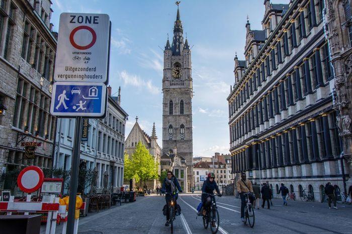Mobiliteitsplan Gent City Gent 9000 Architecture Bicycle Belfort Belgium