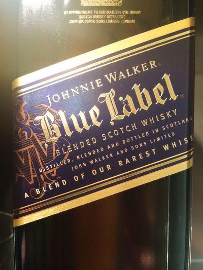 Johnny Walker Blue ( Johnny Walker )sitting pretty in my Wet Bar Life Is Good
