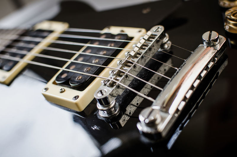 Close-Up Of Black Guitar