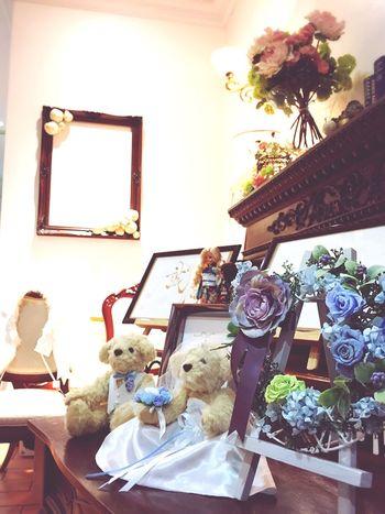 Wedding Party Wedding Day Teddybear Teddy Bear Teddy Bears Flowers Something Blue