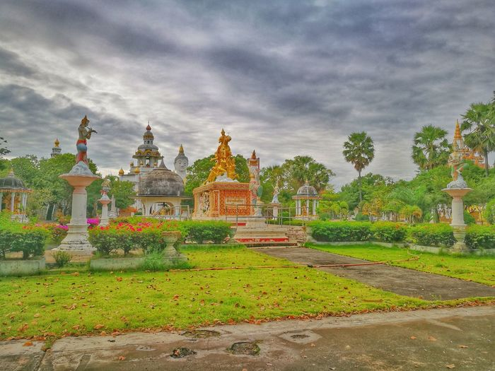 Religion Spirituality Place Of Worship Pagoda Statue Cultures Cloud - Sky Architecture Pilgrimage Tree Gold Colored No People Sculpture Sky Outdoors Day Thailand First Eyeem Photo Beauty In Nature