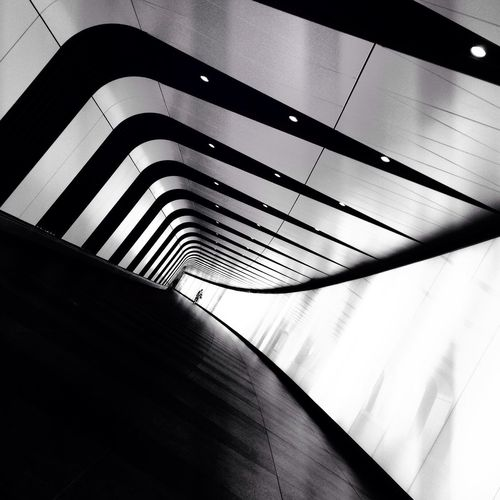 Abstract Blackandwhite Tunnel Walkway Stpancrasstation Stpancrassquare The Secret Spaces