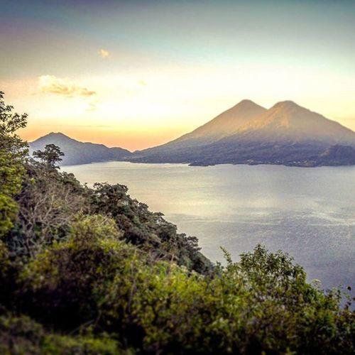 Memories of Atitlán Guatemala Lakeatitlan Quelindaguate Sunrise Volcanos