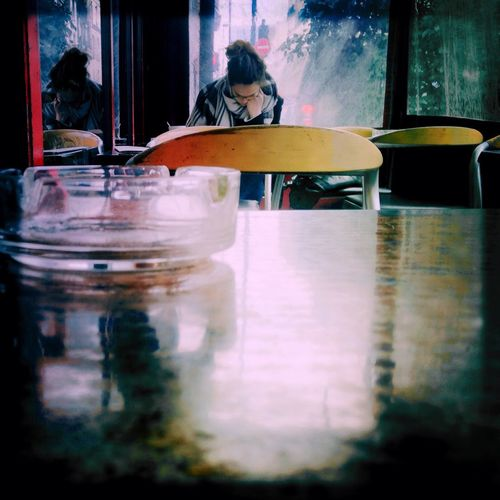 Learning in a coffee shop Part 1 Troquet Parisien IPhoneography Oggl Pixlr