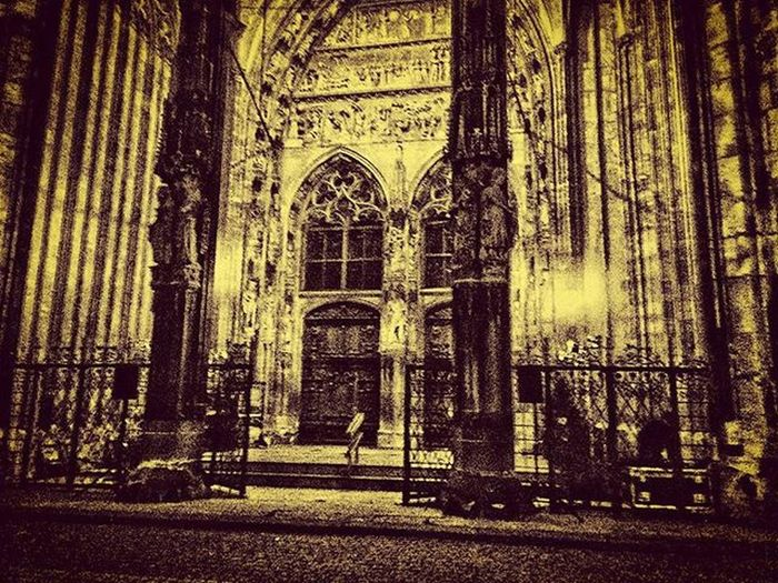 Nite Night Silence Stairs Church Gate Lovely Gothic Nacht Ulm Münster Kirche Tor Treppe Licht Stimmung Ruhe Erwartung