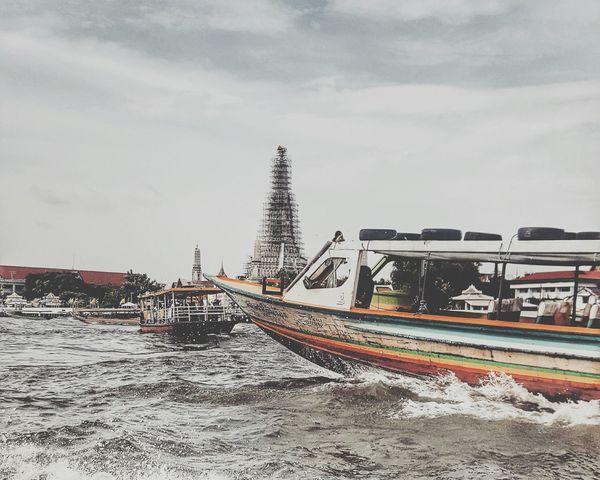 river of life. Bangkok Life Chaophraya River Thailand_allshots