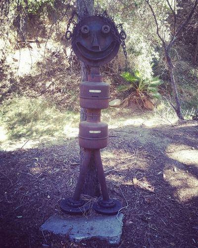 The rusty man Yard Art Rust Rustygoodness Art Theatricum Botanicum